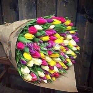 """Букет """"Весна зовет"""" из 101 тюльпана"""