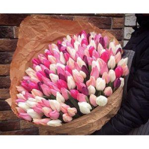 """Букет """"Нежность"""" из 101 тюльпана"""
